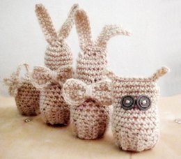 Easter Egg Covers-Bunny, Owl and Flower