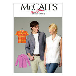 McCall's Misses'/Men's Shirts M6932 - Sewing Pattern