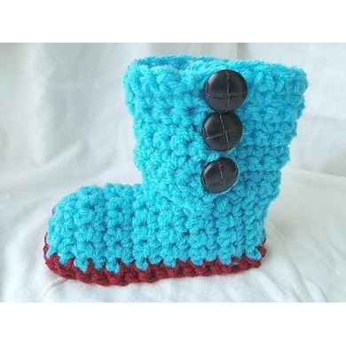 Button Up Boots | Crochet Pattern by SweetPotatoPatterns