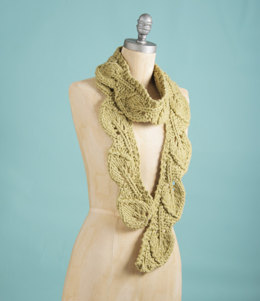 Leaf Scarf in Spud & Chloe Outer - Downloadable PDF