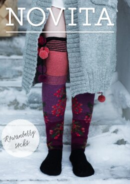 Rowanberry Socks in Novita Nalle and Nordic Wool - Downloadable PDF
