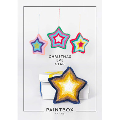 """Christmas Eve Star"" : Knitting Pattern for Christmas in Paintbox Yarns DK 