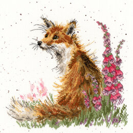 Bothy Threads Amongst the Foxgloves Cross Stitch Kit - 26cm x 26cm