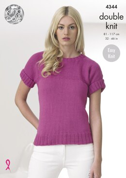 Tops in King Cole Cottonsoft Dk - 4344 - Downloadable PDF