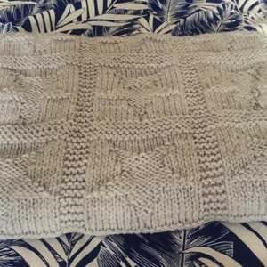 Easy Chunky Baby Blanket With Star Pattern Knitting