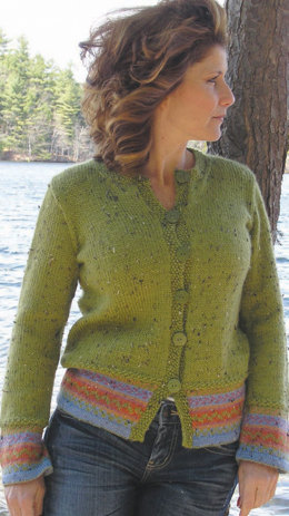Double Tweed Cardigan in Knit One Crochet Too Elfin Tweed - 1932