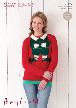 Woman's Xmas Sweater in Hayfield DK with Wool - 7365