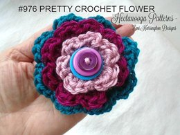 976 Pretty Crochet Flower