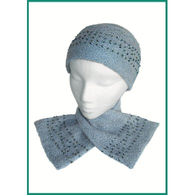 Beaded Hat & Scarf to Knit