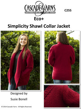 Simplicity Shawl Collar Jacket in Cascade Eco+ - C255