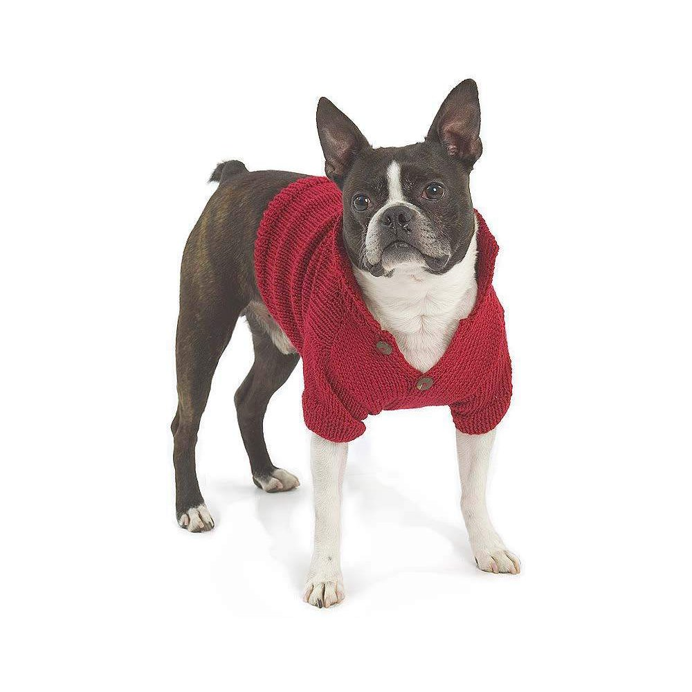 RED HEART HOLIDAY DOG SWEATER, XS