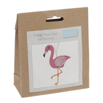 Trimits Felt Decoration Kit: Flamingo - 17 x 9.5 x 2cm