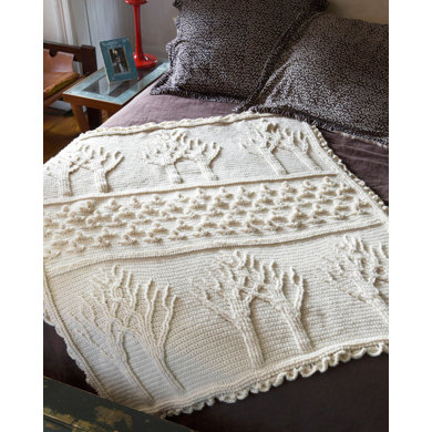 Tree Of Life Afghan in Lion Brand Wool-Ease - 90360AD
