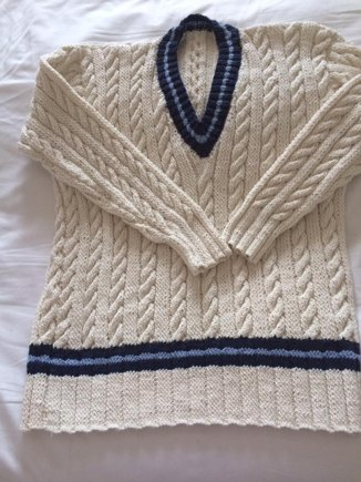 Knitting Pattern For Cricket Sweater : Cricket Sweater knitting project by Goonerbird LoveKnitting