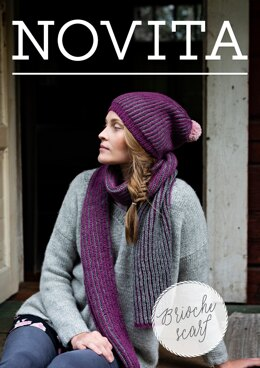 Brioche Scarf in Novita Nordic Wool - Downloadable PDF