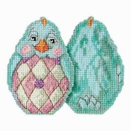 Mill Hill Aqua Chick Beaded Cross Stitch Kit