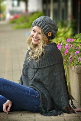 Button Tab Slouchy Hat / Pattern 020