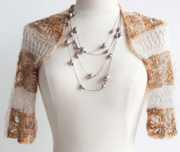 Knit Crochet Shrug in Artyarns Beaded Mohair and Sequins - I217
