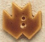 Mill Hill Button 43049 - Maple Leaf Gold
