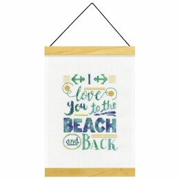 Dimensions Counted Cross Stitch Kit: Banner: Beach and Back - 20.3 x 29.2cm