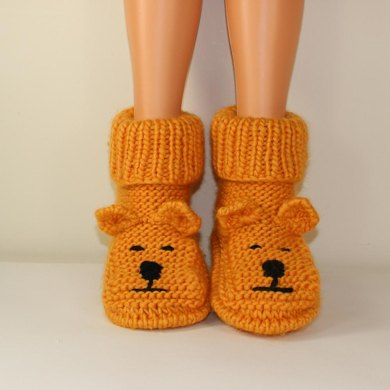 Adult Teddy Bear Slipper Boots