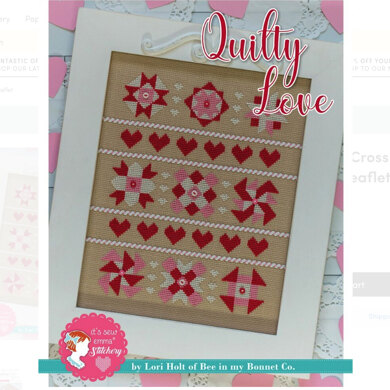 It's Sew Emma Quilty Love Cross Stitch Pattern - ISE-405 - Leaflet