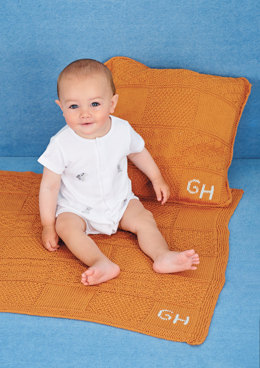Patchwork Blanket and Cushions in Rico Baby Cotton Soft DK - 393 - Downloadable PDF