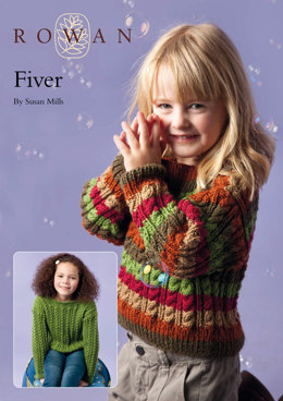 Fiver Cable Sweater in Rowan Pure Wool Worsted