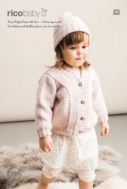d776299830 Cardigan and Hat in Rico Baby Dream DK Uni - 792 - Downloadable ...