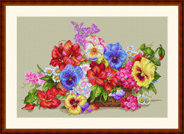 Merejka Garden Flowers Cross Stitch Kit