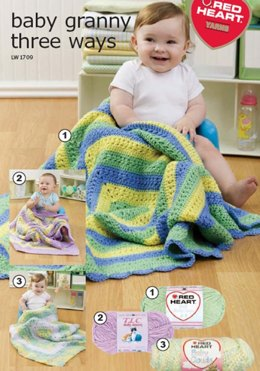 Baby Granny Three Ways in Red Heart Soft Baby Steps - LW1709