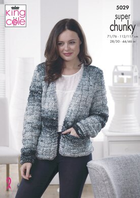Jacket & Sweater in King Cole Big Value Super Chunky Twist - 5029 - Downloadable PDF