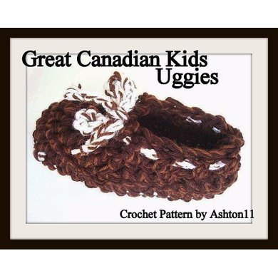 Great Canadian Uggies for Kids! CROCHET PATTERN by Ashton11