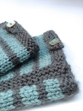 Striped Mitts