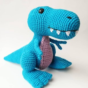 Travis the T-Rex, UK Terminology - Dinosaur Amigurumi ...