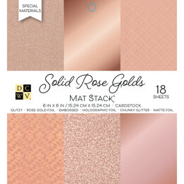 "American Crafts DCWV Single-Sided Cardstock Stack 6""X6"" 18/Pkg - Solid Rose Golds, 6 Designs/3 Each"