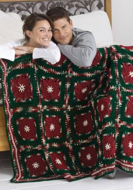Poinsettia Afghan in Red Heart Super Saver Economy Solids - WR1692