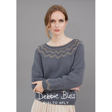 Billie Jumper : Jumper Knitting Pattern for Women in Debbie Bliss Yarn