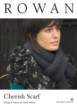 Cherish Scarf in Rowan Big Wool - D135 - Downloadable PDF