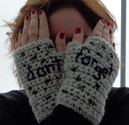 Impossible Astronaut Fingerless Gloves