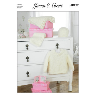 Sweater, Hat and Scarf in James C. Brett Icicle - JB297