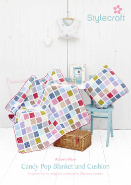 Candy Pop Blanket and Cushion in Stylecraft Special DK
