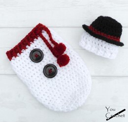 Christmas Snowman Hat and Cocoon Set