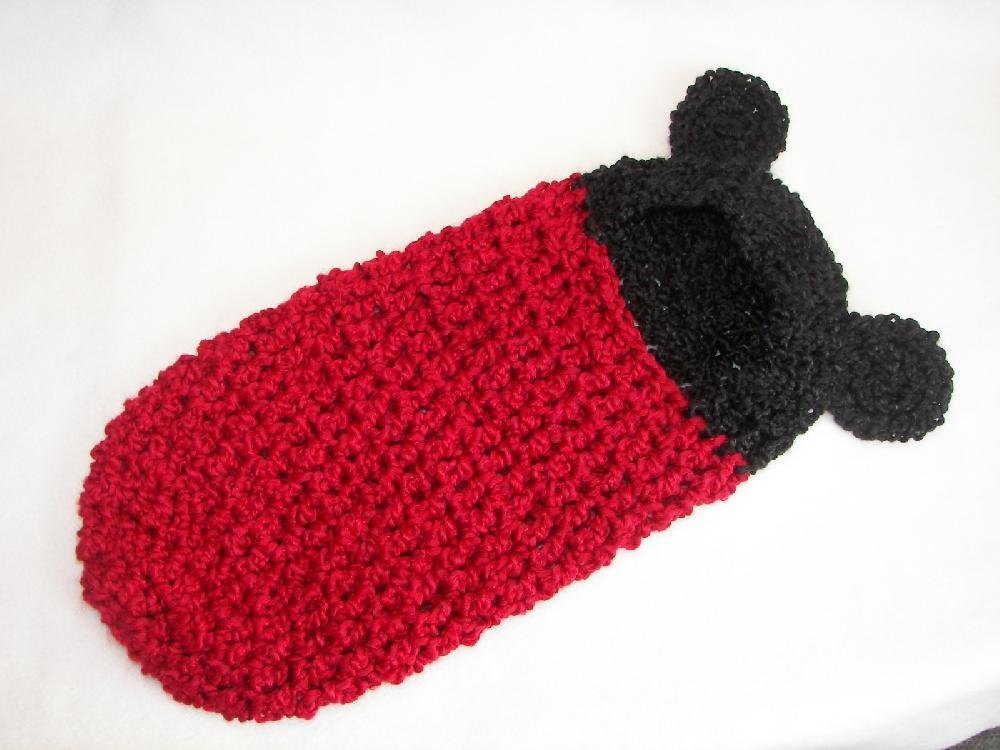 Mickey Mouse Newborn Cocoon Crochet Pattern By Sara Ayers Crochet
