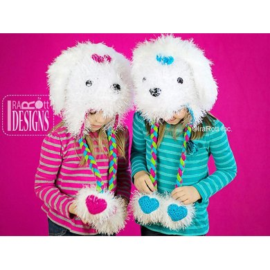 Maltese Dog Knitting Pattern : Pawla Maltese Puppy Dog Hat Crochet PDF Pattern Crochet pattern by Ira Rott