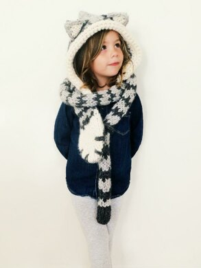 Tilly the Tabby Cat Hooded Scarf