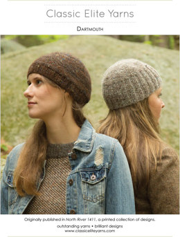 Dartmouth Hat in Classic Elite Yarns Tiverton Tweed - Downloadable PDF