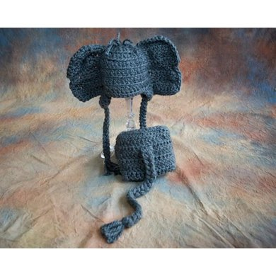 Elephant Baby Hat Diaper Cover Crochet Pattern By Katharine Kennedy