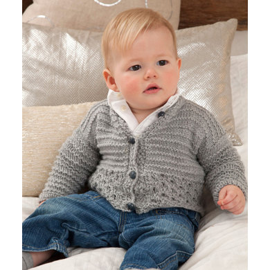 Sweet and Cuddly Baby Cardigan in Red Heart Detroit