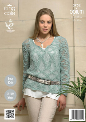 Ladies' Sweater in King Cole Opium - 3752